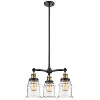 Innovations Lighting 207-BK-G182-LED Canton LED 18 inch Matte Black Chandelier Ceiling Light