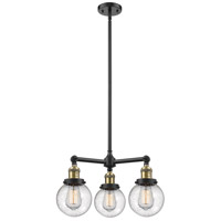 Beacon LED 19 inch Matte Black Chandelier Ceiling Light