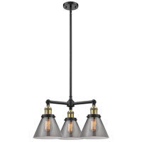 Innovations Lighting 207-BK-G43-LED Large Cone LED 22 inch Matte Black Chandelier Ceiling Light