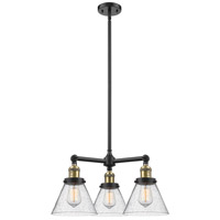 Innovations Lighting 207-BK-G44-LED Large Cone LED 22 inch Matte Black Chandelier Ceiling Light