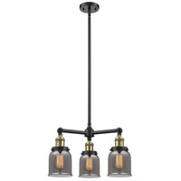Innovations Lighting 207-BK-G53-LED Small Bell LED 19 inch Matte Black Chandelier Ceiling Light