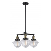 Innovations Lighting 207-BAB-G532 Small Oxford 3 Light 20 inch Black Antique Brass Chandelier Ceiling Light Franklin Restoration