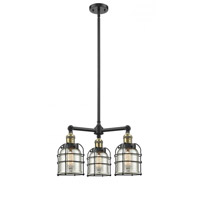 Innovations Lighting 207-BAB-G58-CE-LED Small Bell Cage LED 19 inch Black Antique Brass Chandelier Ceiling Light Franklin Restoration