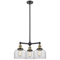 Innovations Lighting 207-BK-G72-LED Large Bell LED 22 inch Matte Black Chandelier Ceiling Light