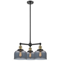 Innovations Lighting 207-BK-G73-LED Large Bell LED 22 inch Matte Black Chandelier Ceiling Light