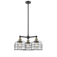 Innovations Lighting 207-BAB-G74-CE Large Bell Cage 3 Light 24 inch Black Antique Brass Chandelier Ceiling Light Franklin Restoration