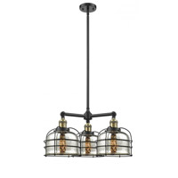 Black Antique Brass Large Bell Chandeliers