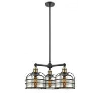 Innovations Lighting 207-BAB-G78-CE Large Bell Cage 3 Light 24 inch Black Antique Brass Chandelier Ceiling Light Franklin Restoration