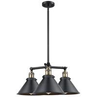 Innovations Lighting 207-BAB-M10-LED Briarcliff LED 24 inch Black Antique Brass Chandelier Ceiling Light Franklin Restoration
