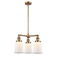 Innovations Lighting 207-BB-G181 Canton 3 Light 18 inch Brushed Brass Chandelier Ceiling Light Franklin Restoration
