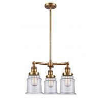 Innovations Lighting 207-BB-G182 Canton 3 Light 18 inch Brushed Brass Chandelier Ceiling Light Franklin Restoration
