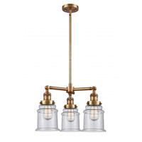 Innovations Lighting 207-BB-G184 Canton 3 Light 18 inch Brushed Brass Chandelier Ceiling Light Franklin Restoration