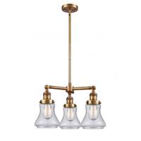 Innovations Lighting 207-BB-G194 Bellmont 3 Light 18 inch Brushed Brass Chandelier Ceiling Light Franklin Restoration