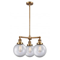 Innovations Lighting 207-BB-G202-8-LED Large Beacon LED 22 inch Brushed Brass Chandelier Ceiling Light Franklin Restoration