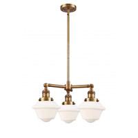 Innovations Lighting 207-BB-G531 Small Oxford 3 Light 20 inch Brushed Brass Chandelier Ceiling Light Franklin Restoration