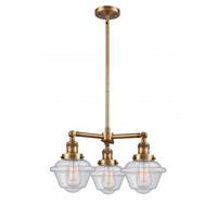 Innovations Lighting 207-BB-G534-LED Small Oxford LED 20 inch Brushed Brass Chandelier Ceiling Light Franklin Restoration