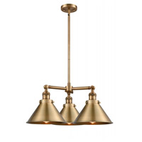 Innovations Lighting 207-BB-M10 Briarcliff 3 Light 24 inch Brushed Brass Chandelier Ceiling Light Franklin Restoration