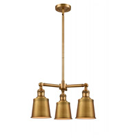 Innovations Lighting 207-BB-M9 Addison 3 Light 19 inch Brushed Brass Chandelier Ceiling Light