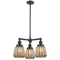 Innovations Lighting 207-BK-G146-LED Chatham LED 24 inch Matte Black Chandelier Ceiling Light