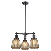 Innovations Lighting 207-BK-G146 Chatham 3 Light 24 inch Matte Black Chandelier Ceiling Light