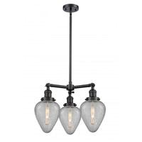 Innovations Lighting 207-BK-G165-LED Geneseo LED 26 inch Matte Black Chandelier Ceiling Light Franklin Restoration