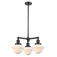 Innovations Lighting 207-BK-G531-LED Small Oxford LED 20 inch Matte Black Chandelier Ceiling Light Franklin Restoration