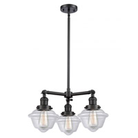 Matte Black Glass Small Oxford Chandeliers