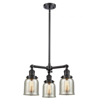 Innovations Lighting 207-BK-G58-LED Small Bell LED 19 inch Matte Black Chandelier Ceiling Light Franklin Restoration