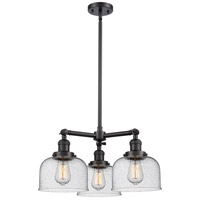 Innovations Lighting 207-BK-G74-LED Large Bell LED 22 inch Matte Black Chandelier Ceiling Light