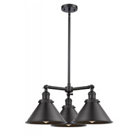 Innovations Lighting 207-BK-M10-LED Briarcliff LED 24 inch Matte Black Chandelier Ceiling Light Franklin Restoration
