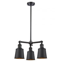Innovations Lighting 207-BK-M9-BK-LED Addison LED 19 inch Matte Black Chandelier Ceiling Light Franklin Restoration