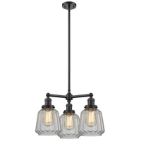 Innovations Lighting 207-OB-G142-LED Chatham LED 24 inch Oil Rubbed Bronze Chandelier Ceiling Light