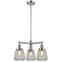 Innovations Lighting 207-PC-G142-LED Chatham LED 24 inch Polished Chrome Chandelier Ceiling Light Franklin Restoration