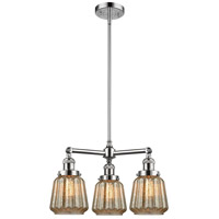 Innovations Lighting 207-PC-G146-LED Chatham LED 24 inch Polished Chrome Chandelier Ceiling Light Franklin Restoration