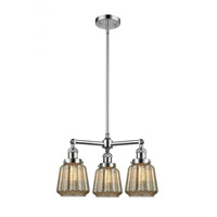 Innovations Lighting 207-PC-G146 Chatham 3 Light 24 inch Polished Chrome Chandelier Ceiling Light Franklin Restoration