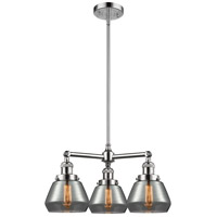 Innovations Lighting 207-PC-G173-LED Fulton LED 22 inch Polished Chrome Chandelier Ceiling Light Franklin Restoration