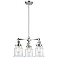 Innovations Lighting 207-PC-G182-LED Canton LED 18 inch Polished Chrome Chandelier Ceiling Light Franklin Restoration