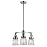 Innovations Lighting 207-PC-G182S Small Canton 3 Light 18 inch Polished Chrome Chandelier Ceiling Light Franklin Restoration