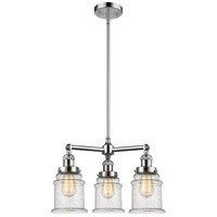 Innovations Lighting 207-PC-G184-LED Canton LED 18 inch Polished Chrome Chandelier Ceiling Light Franklin Restoration