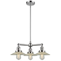 Innovations Lighting 207-PC-G2-LED Halophane LED 22 inch Polished Chrome Chandelier Ceiling Light Franklin Restoration