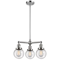 Innovations Lighting 207-PC-G204-6-LED Beacon LED 19 inch Polished Chrome Chandelier Ceiling Light Franklin Restoration