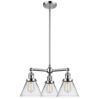 Innovations Lighting 207-PC-G42-LED Large Cone LED 22 inch Polished Chrome Chandelier Ceiling Light