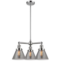 Innovations Lighting 207-PC-G43-LED Large Cone LED 22 inch Polished Chrome Chandelier Ceiling Light