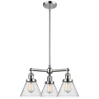 Innovations Lighting 207-PC-G44-LED Large Cone LED 22 inch Polished Chrome Chandelier Ceiling Light