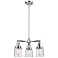 Innovations Lighting 207-PC-G52-LED Small Bell LED 19 inch Polished Chrome Chandelier Ceiling Light Franklin Restoration
