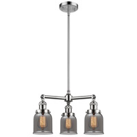 Innovations Lighting 207-PC-G53-LED Small Bell LED 19 inch Polished Chrome Chandelier Ceiling Light