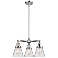 Innovations Lighting 207-PC-G62-LED Small Cone LED 19 inch Polished Chrome Chandelier Ceiling Light Franklin Restoration