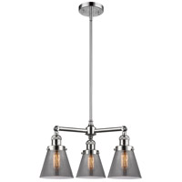 Innovations Lighting 207-PC-G63-LED Small Cone LED 19 inch Polished Chrome Chandelier Ceiling Light