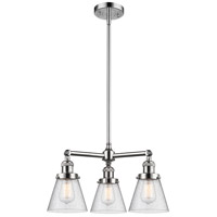 Innovations Lighting 207-PC-G64-LED Small Cone LED 19 inch Polished Chrome Chandelier Ceiling Light