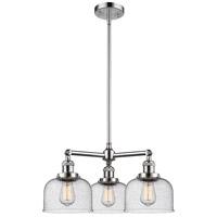 Innovations Lighting 207-PC-G74-LED Large Bell LED 22 inch Polished Chrome Chandelier Ceiling Light